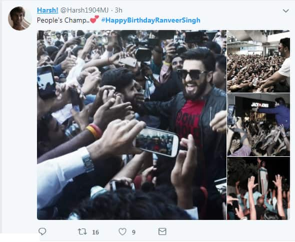 The Best Birthday Gift For Ranveer Singh Is This Downpour Of Love From His Fans