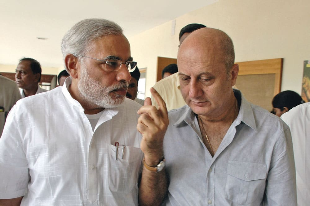 Anupam Kher - There is rarely any role that Anupam Kher cannot do. Playing PM MOdi would be challenging. Also it would be great to see him play both the former PM, Manmohan Singh and our present PM Narendra Modi!