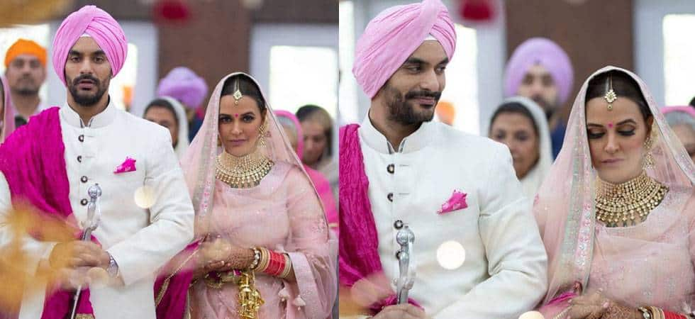 Neha Dhupia - Angad and Neha pleasantly surprised one and all when they posted pictures of their marriage directly. Apparently, the two BFFs had a chat mangni and phat shaadi. It was also revealed later that Angad had proposed to Neha four years back, but she had laughed it off. Angad had also revealed that his relationship with best friend Yuvraj had soured because of his marriage with Neha, since Yuvraj loved Neha at one point of time! The two are now proud parents of Mehr.