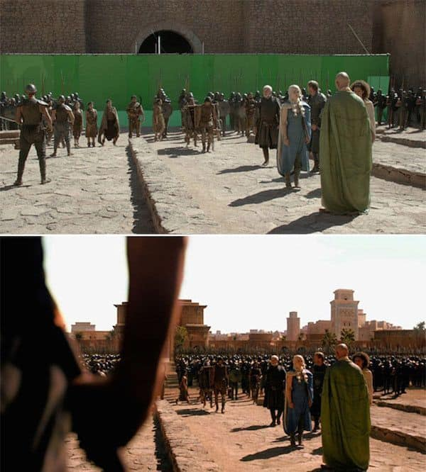 10 Pictures From Game Of Thrones Before And After Special Effects That Change The Way You See The Show - DesiMartini