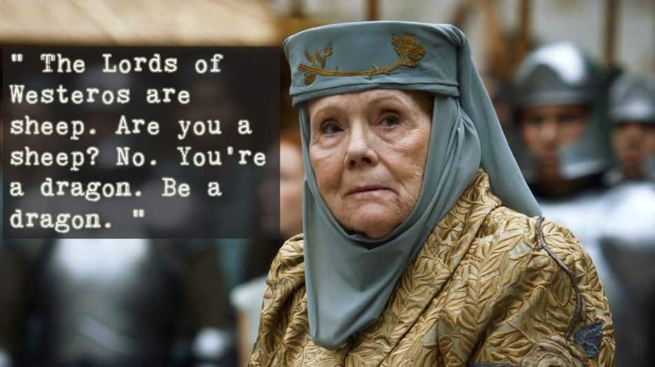 12 Quotes By Olenna Tyrell That Proves That She Was The Most Badass Character In Game Of thrones!!