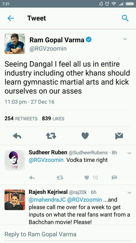 Check Out Ram Gopal Varma's Shocking Tweet On Dangal!