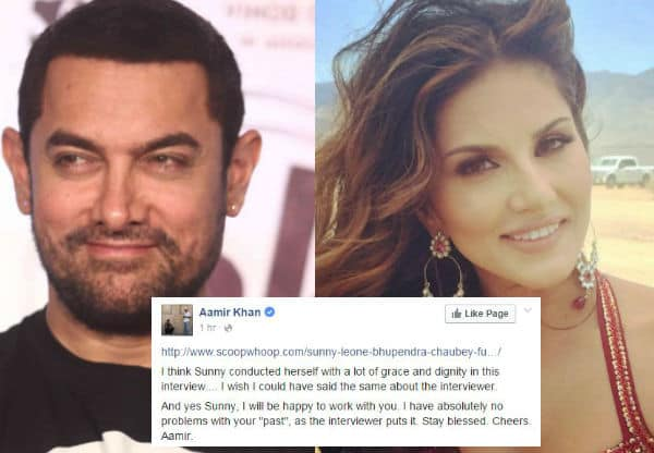 Sunny Leone's Interview Controversy: Aamir Khan Ready To Work With The Actress
