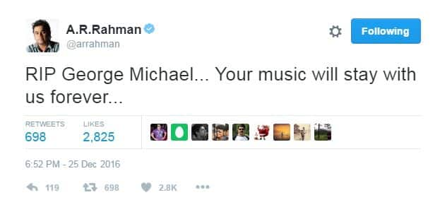 Here's How Bollywood Reacted To British Pop Star George Michael's Death