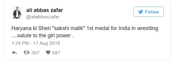 Here's How Bollywood Celebs Are Congratulating Olympic Medalist Sakshi Malik