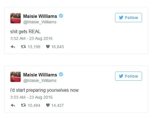 Maisie Williams Has Got Us Super-Excited With THESE Game of Thrones Tweets