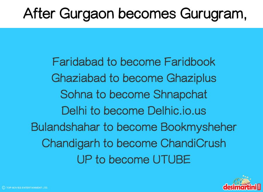 Here's How People Are Reacting To Gurgaon's Name Change