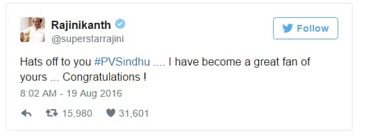 Here's How Bollywood Reacted To PV Sindhu's Olympic Silver Medal