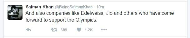 Here's How Salman Khan is Supporting Indian Olympic Athletes!