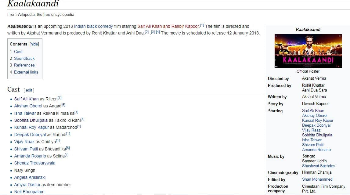 Here's Why You Should Check The Kaalakaandi Page On Wikipedia, RIGHT NOW!
