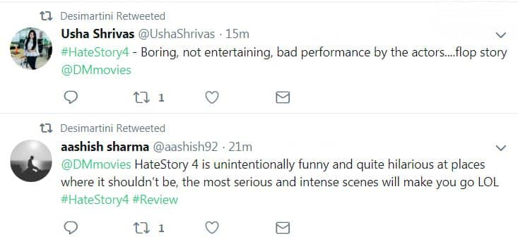 Audience Movie Review: Hate Story 4