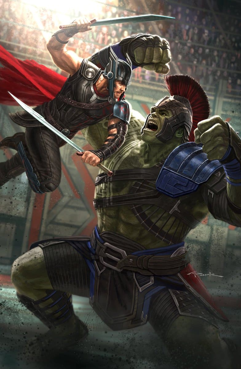 Thor And Hulk Dishing It Out In The New Thor: Ragnarok Poster