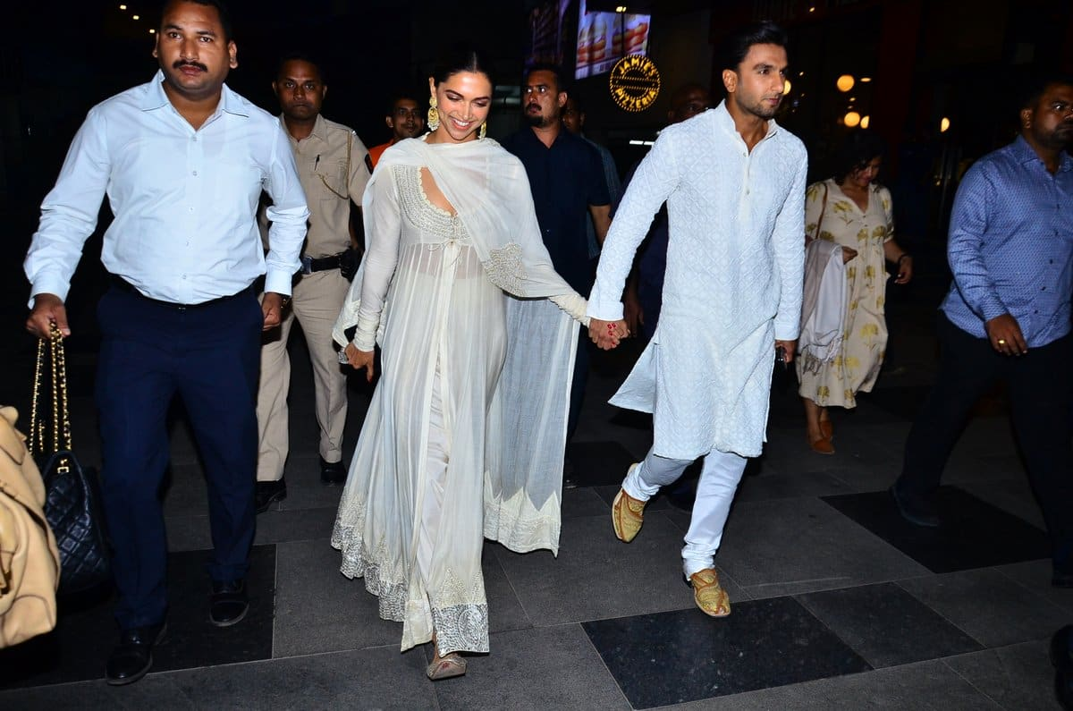 Deepika Padukone And Ranveer Singh Make Their Relationship Official As They're Spotted Hand-In-Hand At Padmaavat's Screening