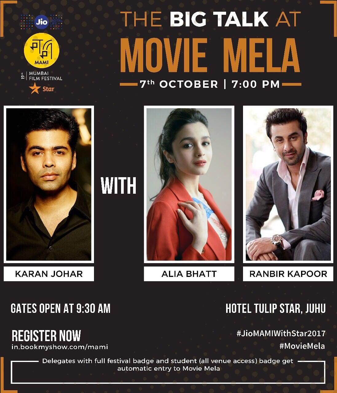 MAMI Movie Mela To Bring Karan Johar, Ranbir - Alia, Vishal Shekhar & The Team Of Golmaal Again Under One Roof