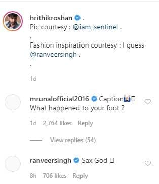 Ranveer Singh Drools Over Hrithik Roshan's Quirky Ensemble Inspired By Him, Calls Him 'Sax God'