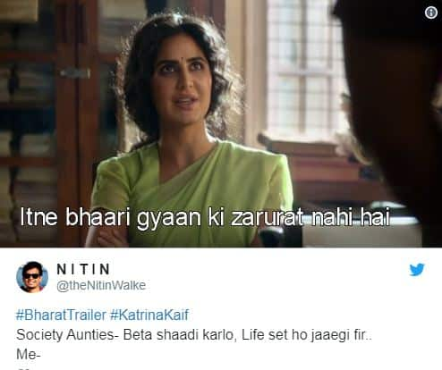 Katrina Kaif Dialogue From Bharat Trailer Is All Memesters Can Obssess About