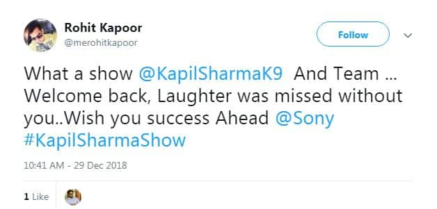 Twitter Shows Some Serious Love To Kapil Sharma After The First Episode Of Comedy Nights With Kapil Season 2