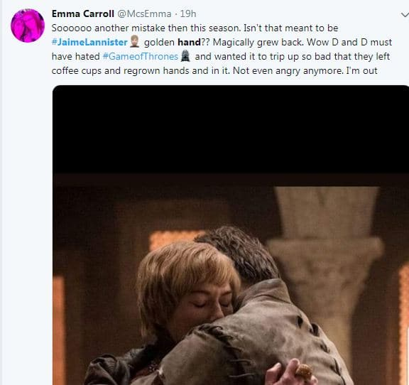 Jaime Lannister Growed His Hand Back On GoT And Twitter Memes Got Out Of Hand