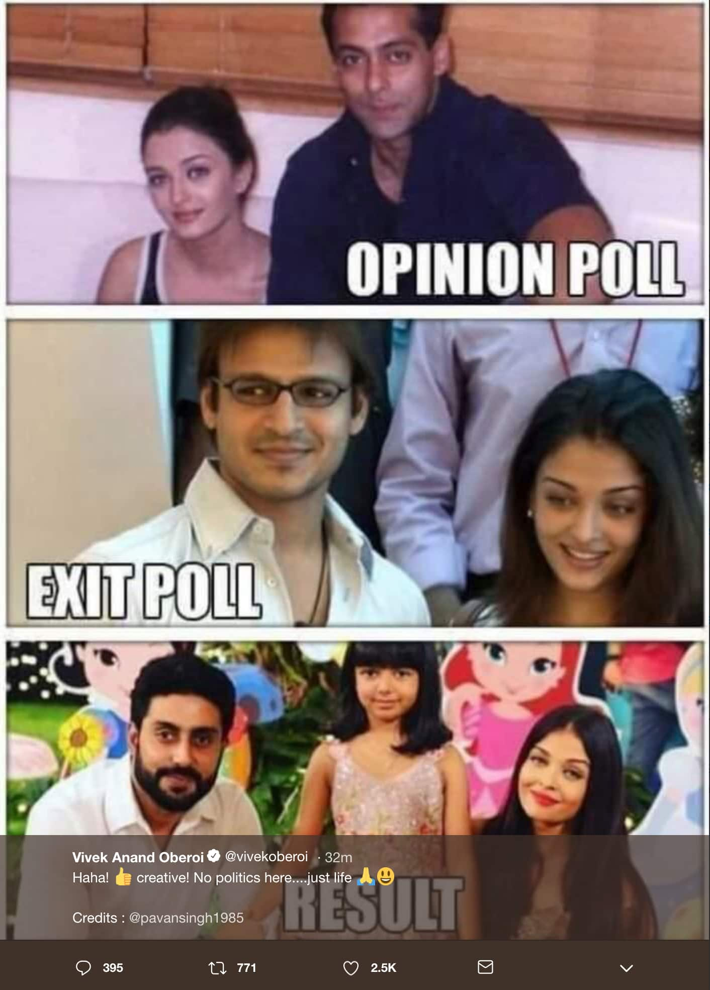 Vivek Oberoi Just Shared A Meme With Aishwarya And Salman And We Are Too Shocked To React