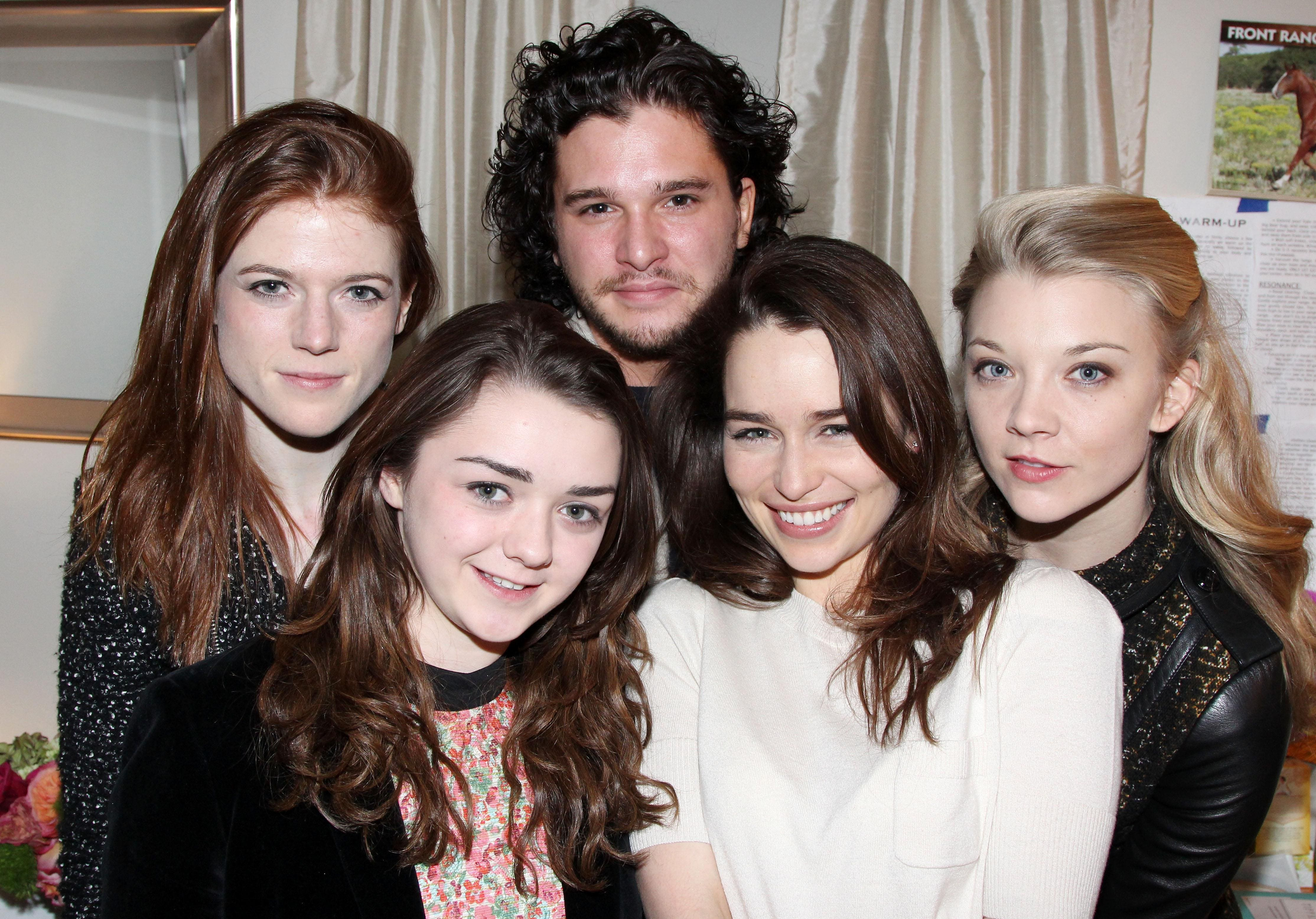 Emilia Clarke and Rose Leslie are in India