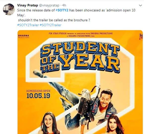 Twitterati Has A Lot To Say About SOTY 2 Trailer And We Have A Lot To Laugh About