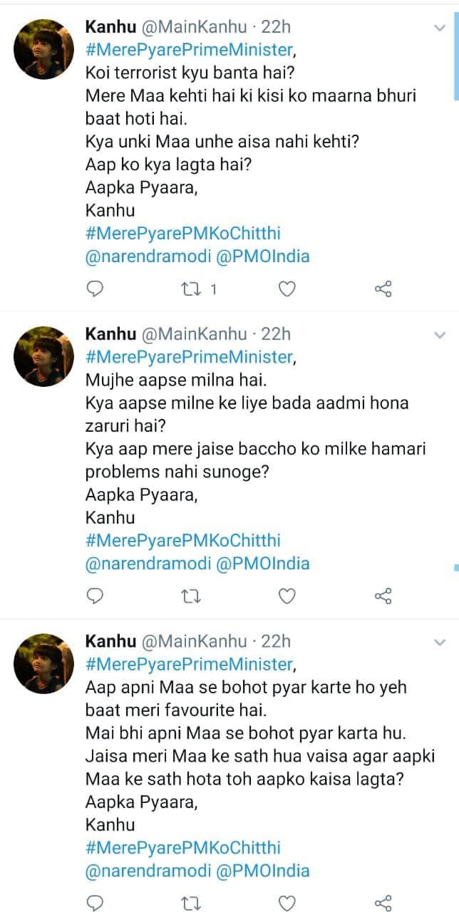 #MerePyarePMKoChitthi: Kanhu From Mere Pyare Prime Minister Writes A Note To Real Life PM
