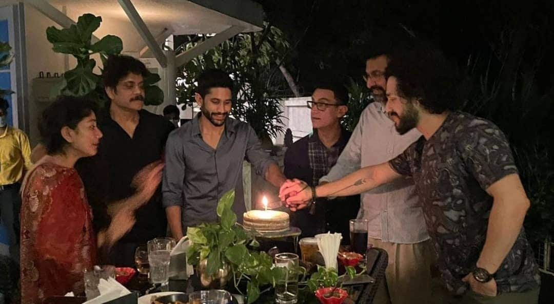 Nagarjuna Akkineni hosts Aamir Khan for a special dinner, gets emotional about the star's collaboration with son Naga Chaitanya