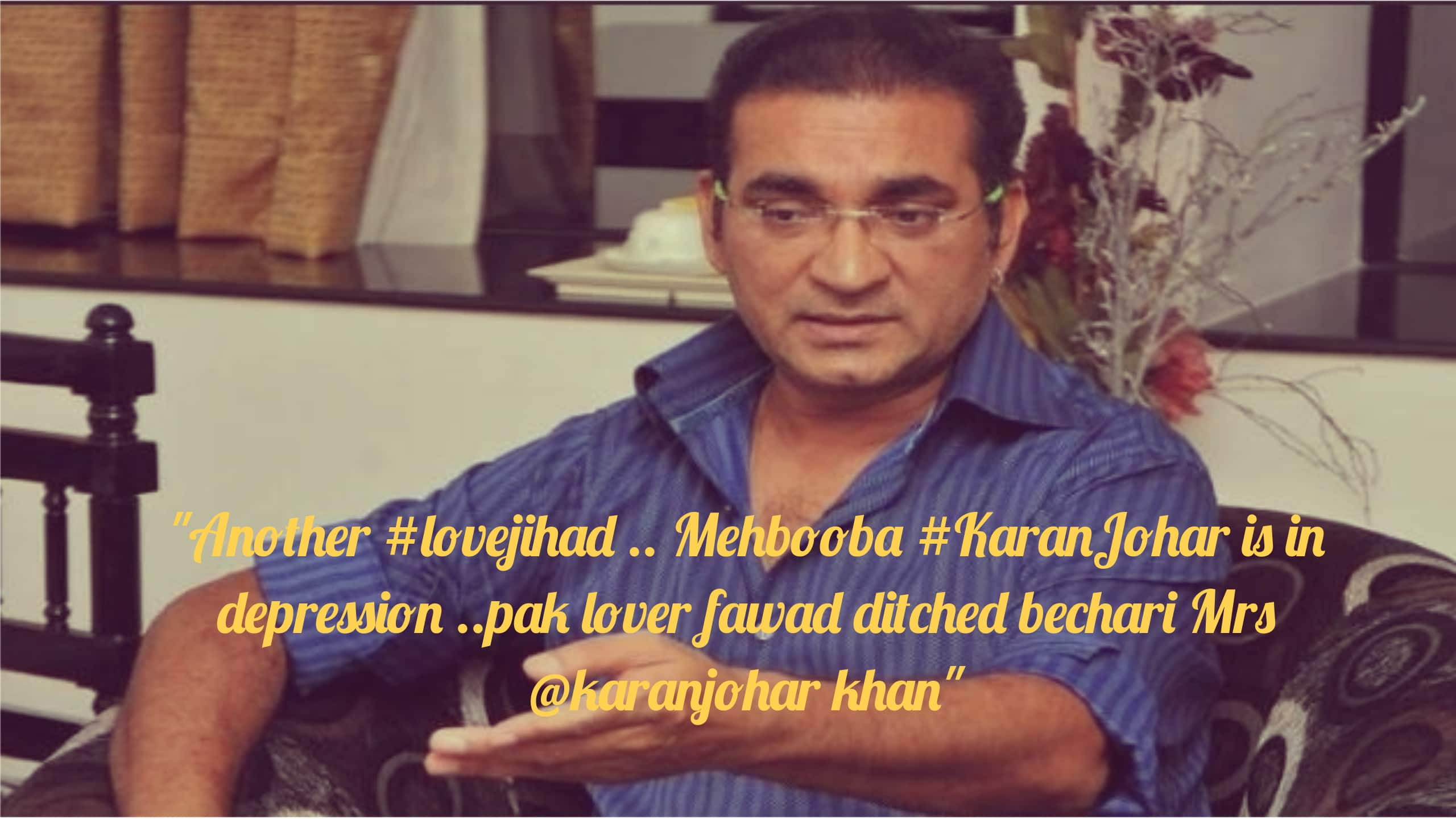 These Golden Words By Singer Abhijeet Bhattacharya Is Ruining Our Fond Memories Of His Songs