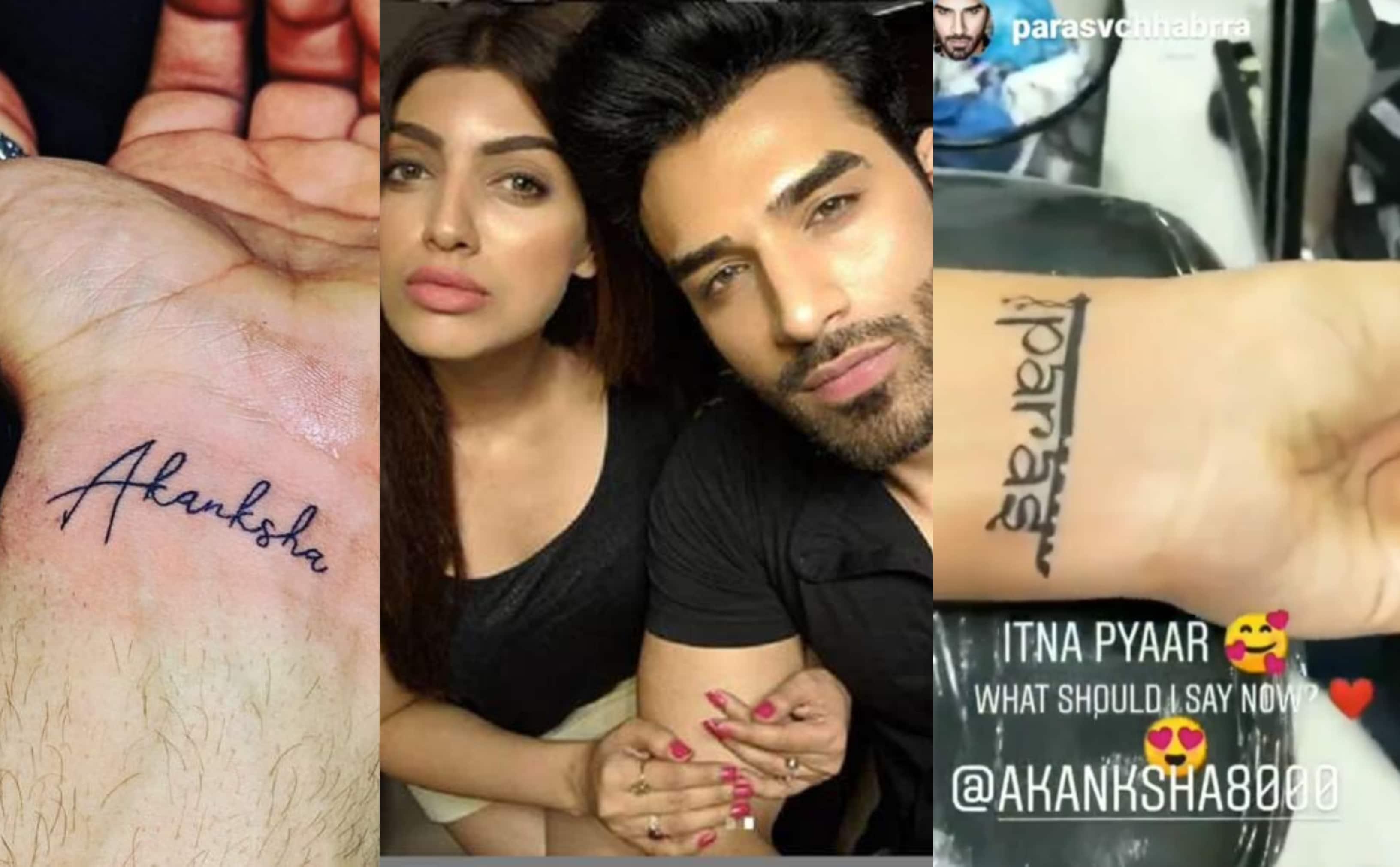 Akanksha Puri replaces tattoo of Paras' name