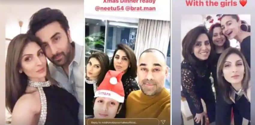 Ranbir Kapoor, Alia Bhatt Celebrate Christmas With Their Families, Together; See Pic
