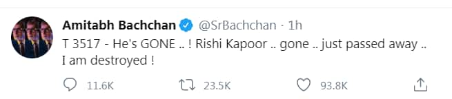R.I.P Rishi Kapoor: Amitabh Bachchan, Akshay Kumar, Rajinikanth And Other Celebs Pay Their Tribute