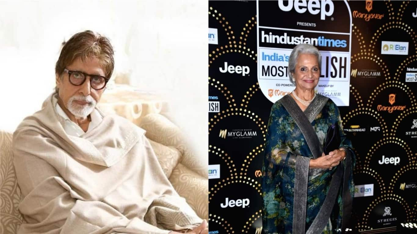 Amitabh Bachchan Once Ran Towards Waheeda Rehman's With Her Shoes As She Shot In The Desert Barefoot