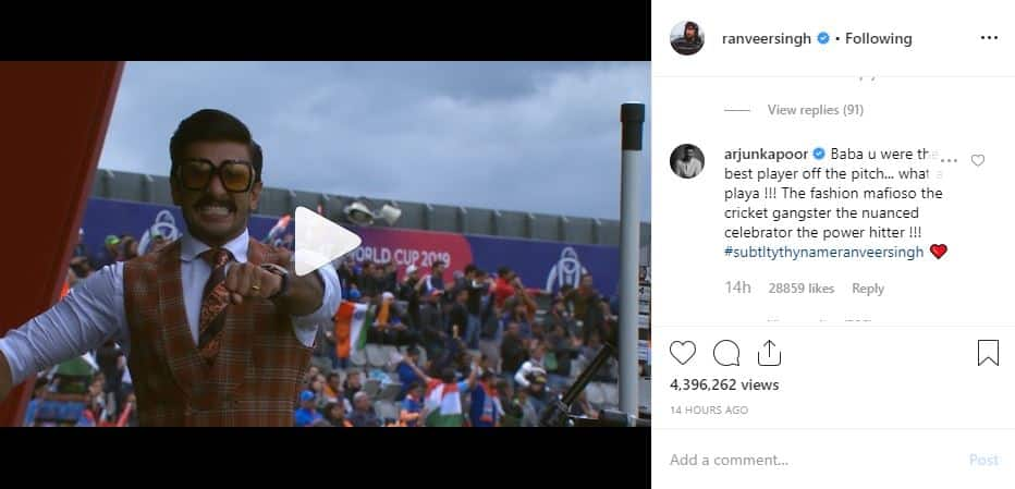Arjun Kapoor Calls Ranveer Singh 'The Cricket Gangster', Praises Him As The Best Player Off The Pitch
