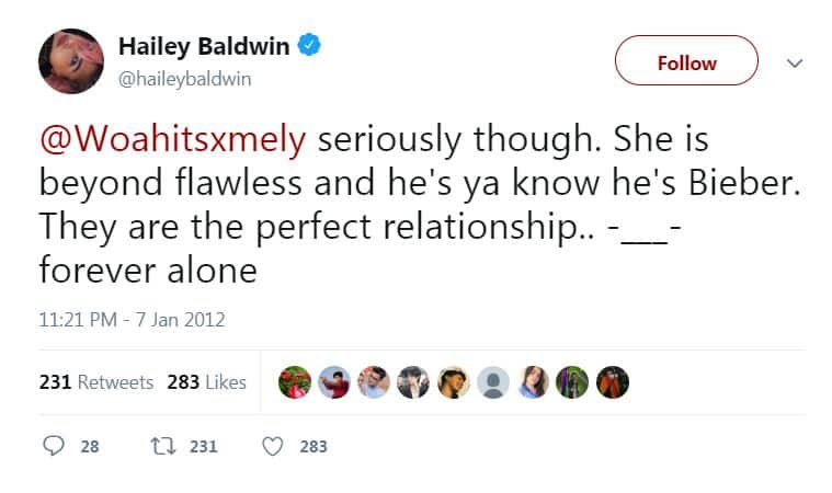 These Old Tweets Of Justin Bieber's Fiancee Hailey Baldwin About Jelena Is Pure GOLD!