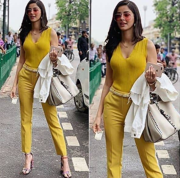 Ananya Pandey's Bright Yellow Look Is The Fashion Sunshine You Need In Life
