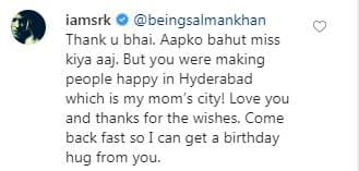 Salman Khan's Birthday Wish For Shah Rukh Khan And His Reply Is The Most Adorable Khan Moment We Have Seen In  A While