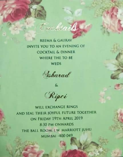 This Is What Ssharad Malhotra And Ripci Bhatia's Wedding Card Looks Like!