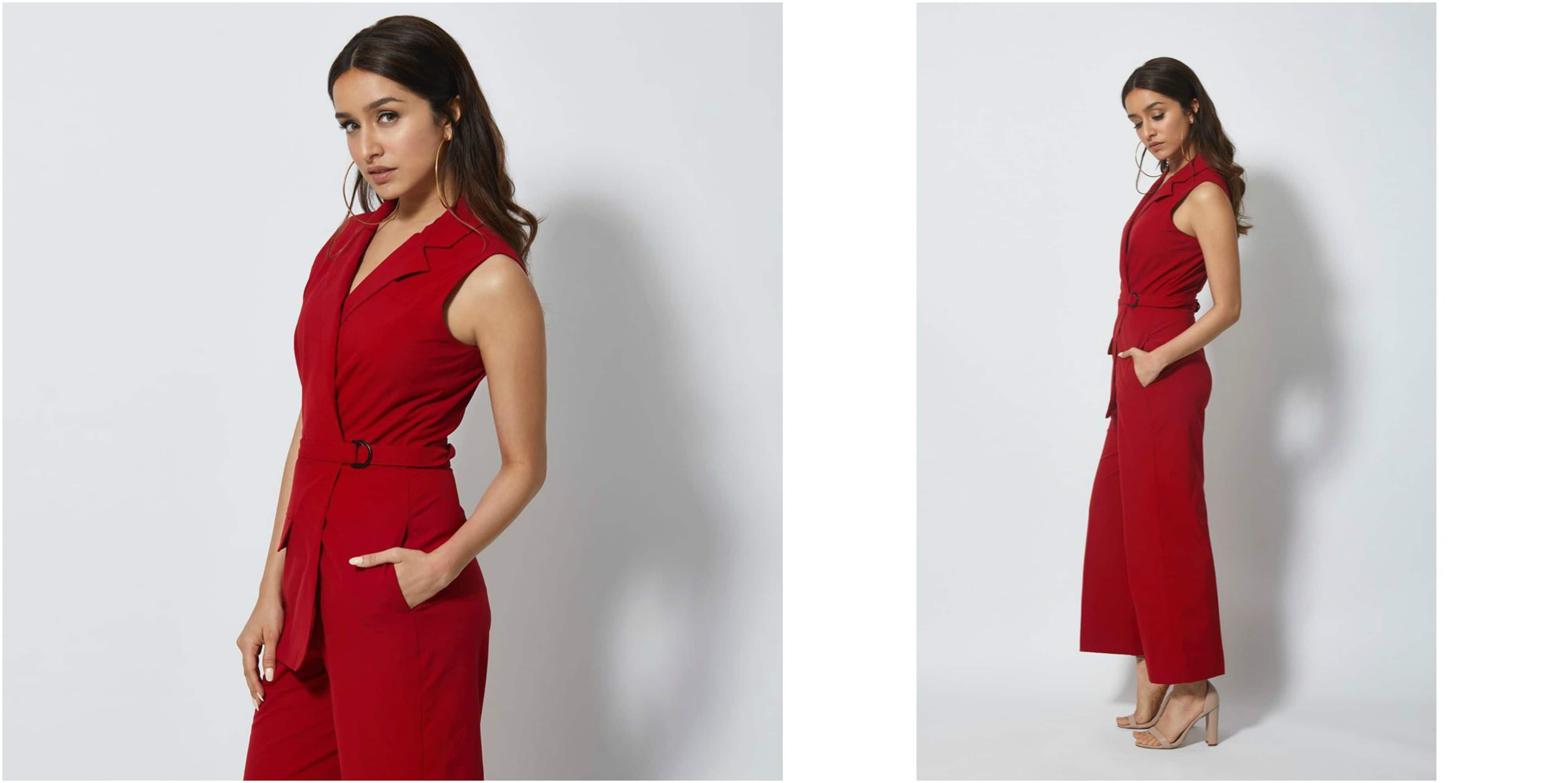 Shraddha Kapoor Nails The Classic Chic Look In A Red Jumpsuit And So Can You