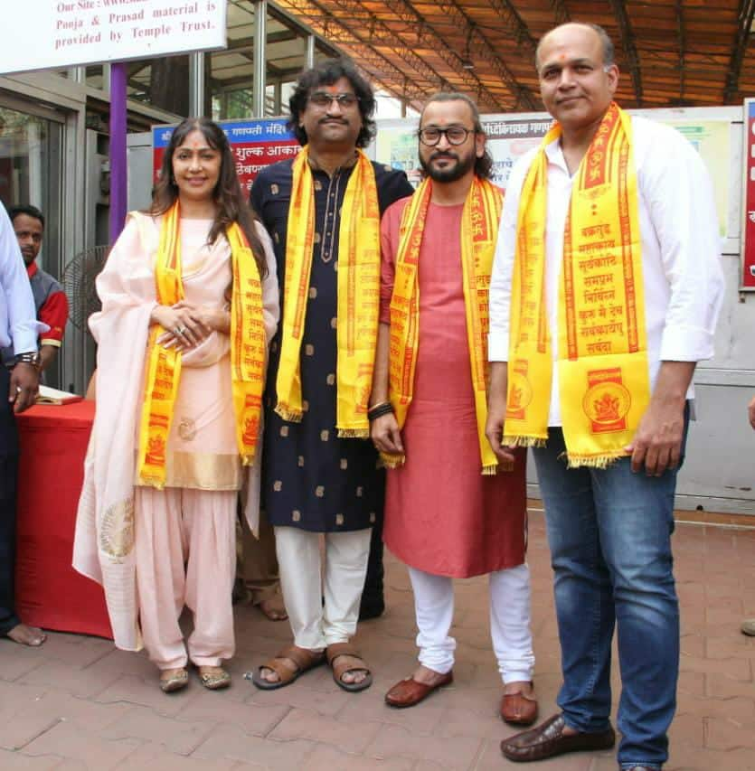 Ashutosh Gowariker And Team Panipat Launch Their First Song 'Mard Maratha' in Mumbai's Siddhivinayak Mandir