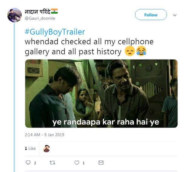 Gully Boy Trailer Is The Latest Fuel To Fire Up the Meme Fest On Twitter