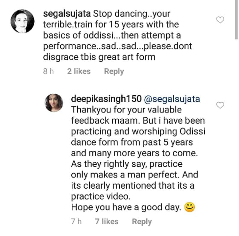 Deepika Singh Hits Back At A Troll Calling Her A Terrible Odissi Dancer