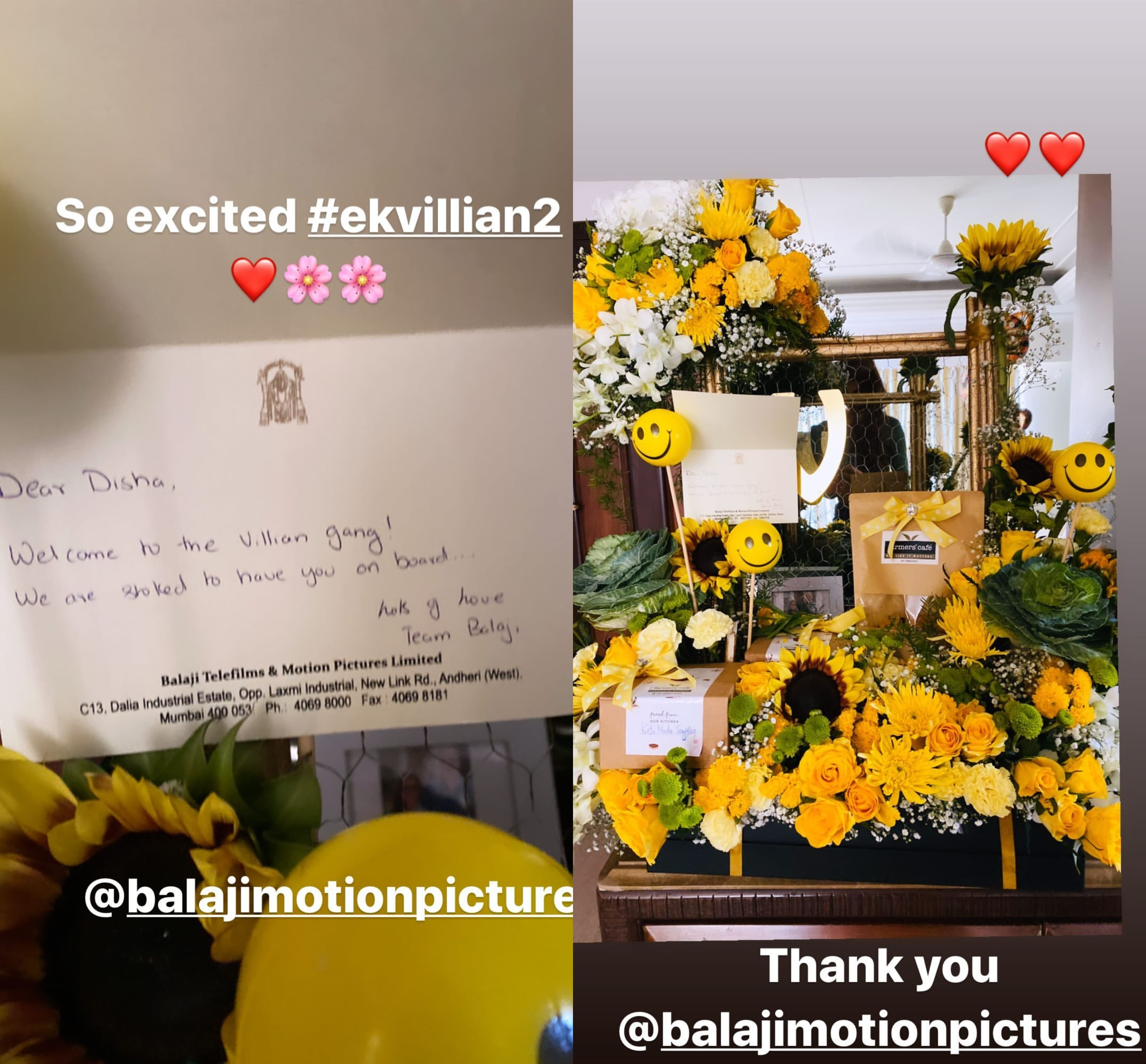 Ek Villain 2: A Super Excited Disha Patani Shares Pictures Of Her Warm Welcome To The 'Villain Gang'