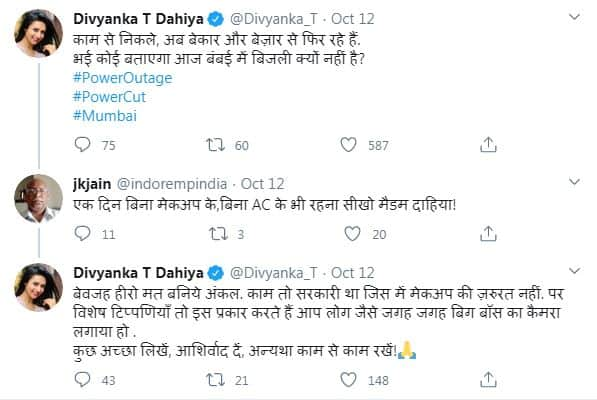 Divyanka Tripathi Schools A Troll Who Tells Her She Should Try Going One Day With AC & Makeup Post Mumbai Power Outage