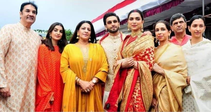 Love Deepika Padukone's Anniversary Special Red And Gold Saree? Here's Where You have Seen It Before