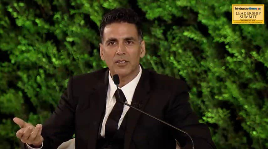 ...when the superstar Akshay Kumar snapped
