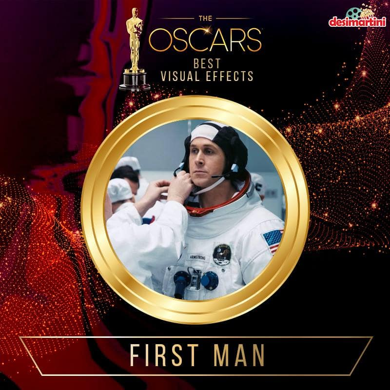 2019 Oscars - Rayan Gosling Starrer First Man Wins The Best Visual Effects