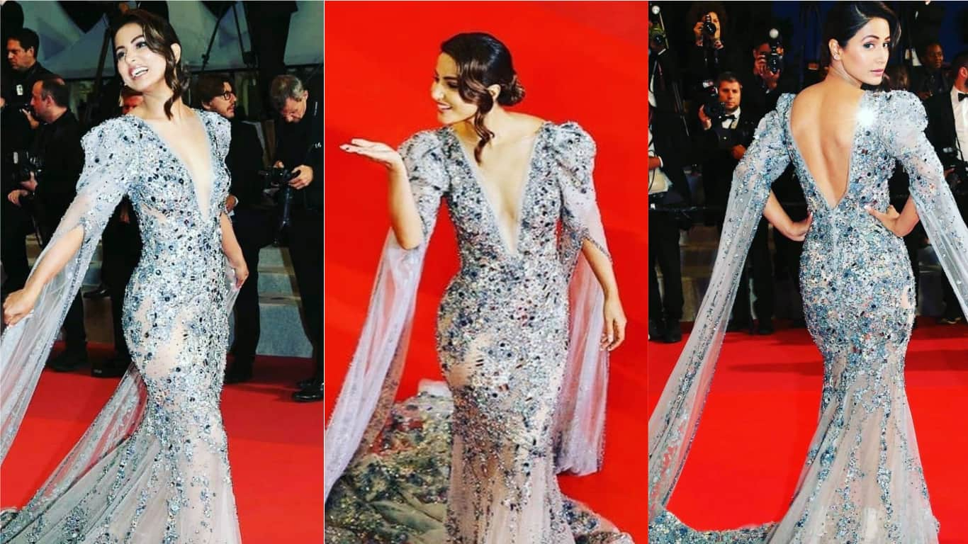 Hina Khan Sparkles The Cannes Red Carpet In A Ziad Nakkad Sequined Gown