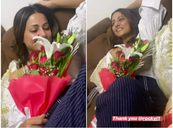 Hina Khan's Boyfriend, Rocky Jaiswal, Bakes Cakes For Her On Birthday! See Pictures...