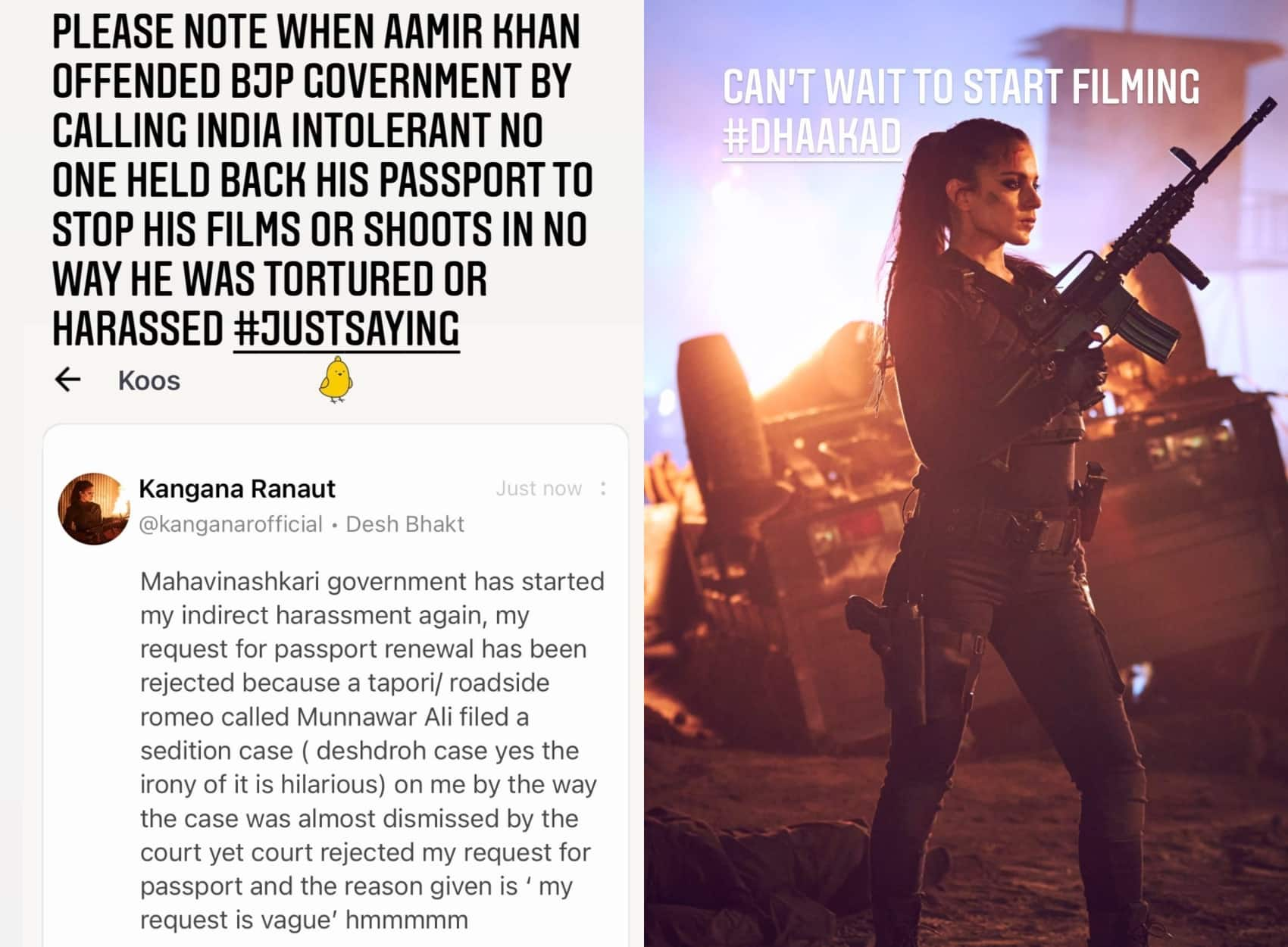 Bombay HC dismisses Kangana Ranaut's passport renewal request, she drags in Aamir Khan's name to prove her point