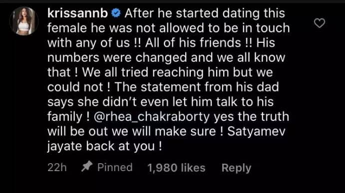 Rhea Chakraborty's Jalebi Co-Star Reacts To The Her Video-'She's Faking Grief'